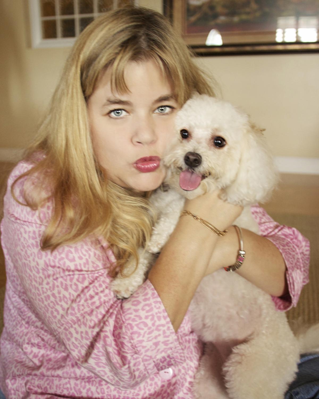 Lourdes and her dog, Bella